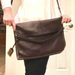 Badgley Mischka Brown Studded Leather Purse